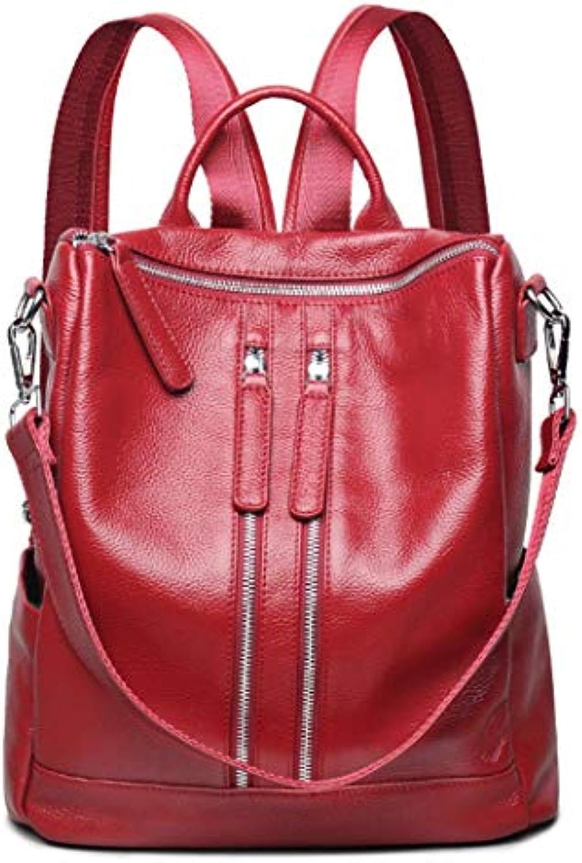 YOJDTD Backpack Bag Lady Bag Waterproof Bag Backpack, Wine red