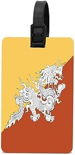 Cunstom - Etiquetas para bolsa de equipaje, Lecintevro Bhutan Flag, One_Size