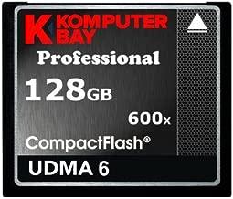 Komputerbay 128Go Professional Compact Flash Carte CF 600X 90MB/s Extreme Speed UDMA 6 RAW 128 Go