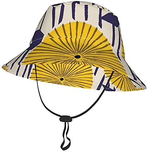 KEROTA - Cappello da sole per bambini e bambine, con fascia per il mento regolabile, pieghevole, per tutte le stagioni, da spiaggia, parco all'aperto, pescatore, Colore unico, 8-12 Anni