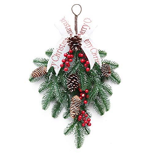 Decoración de Navidad para la casa de la guirnalda de Navidad de la puerta de la pared, bola de Navidad, gran colgado, corona de garland, decoración de frutas falsas