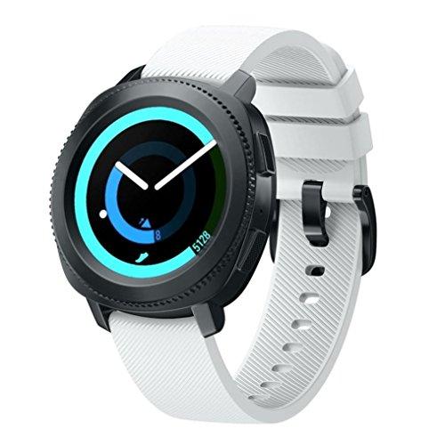 Shieranlee 20mm Correa para Amazfit Bip Xiaomi, 20mm Repuesto de Correa Reloj de Silicona para Garmin Forerunner 245/645/Vivoactive 3/Huawei Watch 2/Samsung Galaxy Watch 42mm/Gear Sport/Active