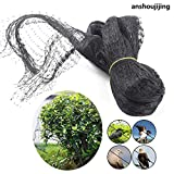 anshoujijing 5 Piezas Black Orchard Anti-Bird Net Garden Pond Plant Netting Control De Plagas Malla para Cultivo Agrícola Flor Fruta Vegetal Protección Net 5m * 5m