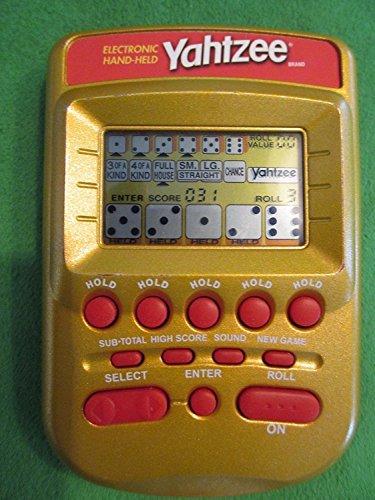 YAHTZEE Electronic Handheld Game (Gold Case Edition)