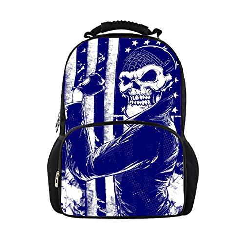 1-3 Year Old Boys and Girls Schoolbag Cartoon Skull 3D Shoulder Color Bag