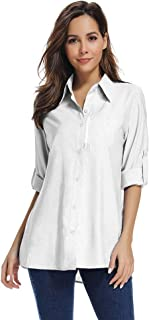 Women's Quick Dry Sun UV Protection Convertible Long Sleeve to Short Sleeve Shirts for Hiking Camping Fishing Sailing