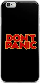 iPhone 6/6s Pure Clear Case Cases Cover Dont Panic - The Hitchhiker's Guide to The Galaxy