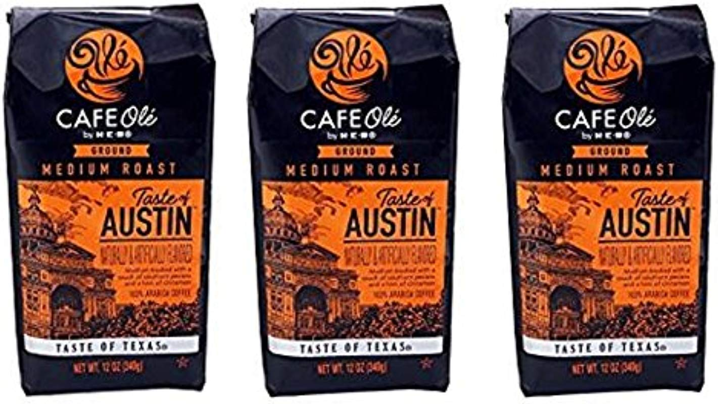 Cafe Ole Taste Of Austin Ground Coffee 12 Oz Pack Of 3