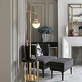 aipipl SuRose Globe Ornaments, Glass Globe LED Stehlampe - Mid Century Modern, Stehlampe für Wohnzimmer - Hohe Mastleuchte für Schlafzimmer Büro - Antik Messing