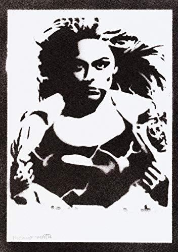 Supergirl Poster Plakat Handmade Graffiti Street Art - Artwork
