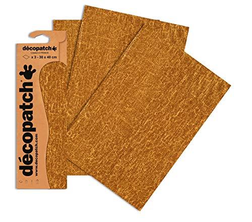 Decopatch Papier No. 475 (braun gold, 395 x 298 mm) 3er Pack
