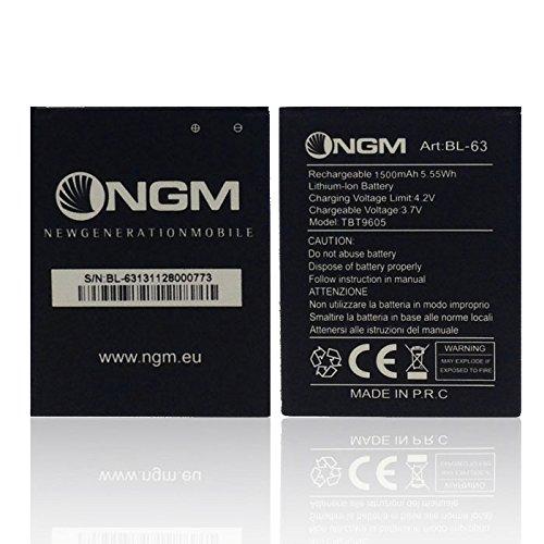 ORIGINALE NGM Batteria BL-63 per Dynamic Racing 3 Color 1500 mAh LI-Ion Bulk
