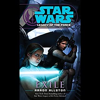 Star Wars: Legacy of the Force #4: Exile                   By:                                                                                                                                 Aaron Allston                               Narrated by:                                                                                                                                 Marc Thompson                      Length: 6 hrs and 18 mins     86 ratings     Overall 4.6