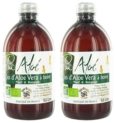 Pur Aloé - Aloé vera bio Pur gel à boire 1000ml - Lot de 2