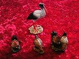 Figuras de belén accesorios Cigüeña con gallinas, para figuras de 10–12cm)