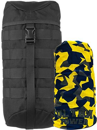 Wisport Zusatztaschen Rucksack | abnehmbare Seitentaschen für Wanderrucksack | Schwarze Außentaschen | Seitentasche schwarz | 5L | Cordura | Black | für Sparrow 20, 30 + UP Schlauchtuch