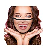 JINF Realistic Face Mask,Funny Face Masks for Adults, For Women Reusable Washable,Cotton Mouth Mask