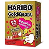 Haribo Gold-Bears Valentines Day Gummy Bears Party Supplies Favors, 25 Count