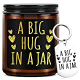 Thinking of You Gift-Lavender Scented Candles with Keychain-Best Friend Birthday Gifts for Women, Friendship Gifts,Cheer up Gifts for Women, Men, Mom, BFF,Girlfriend,Boyfriend,Sister