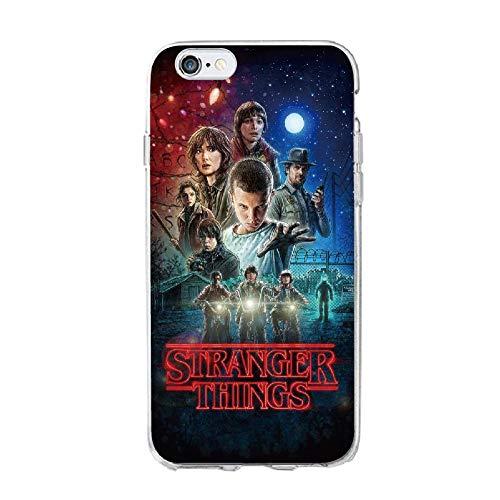 LNLYY Stranger Things iPhone 6 Plus & iPhone 6s Plus Custodia Case Cover TPU Silicone Morbido per Apple iPhone 6 Plus & 6s Plus