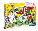 Clementoni- PZL 104 Colorear PIPPI CALZAS LARGAS Langstrom Puzzle Infantil, Multicolor (25713)