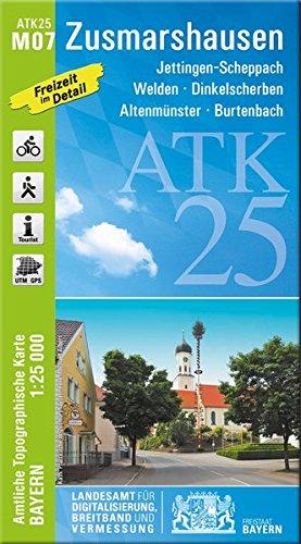 ATK25-M07 Zusmarshausen (Amtliche Topographische Karte 1:25000): Jettingen-Scheppach, Welden, Dinkelscherben, Altenmünster, Burtenbach (ATK25 Amtliche Topographische Karte 1:25000 Bayern)