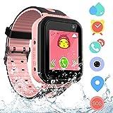 Reloj Inteligente Niña IP67 Impermeable - Smartwatch Niños Rastreador de AGPS LBS, Reloj Niña con Llamada Telefónica SOS Cámara Juegos Despertador, Reloj Inteligente Niña Compatibles con IOS Android