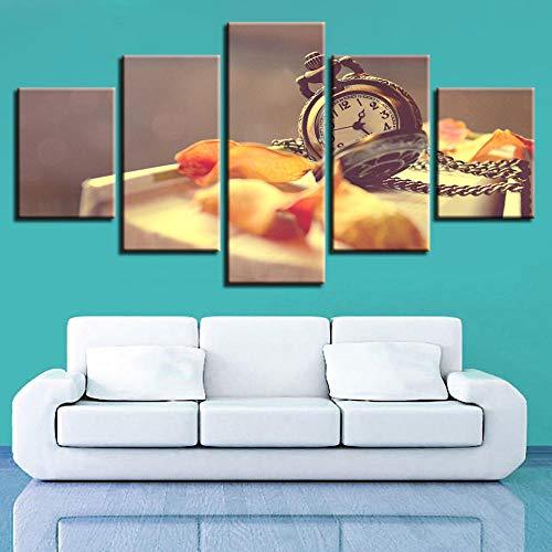 LTXMZ 5 delar väggaffisch canvasmålning skogslönn löv bilder heminredning vardagsrum modern