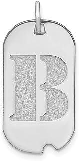 Colgante de placa de identificación de perro con letra B pulida de 14 kw para mujer