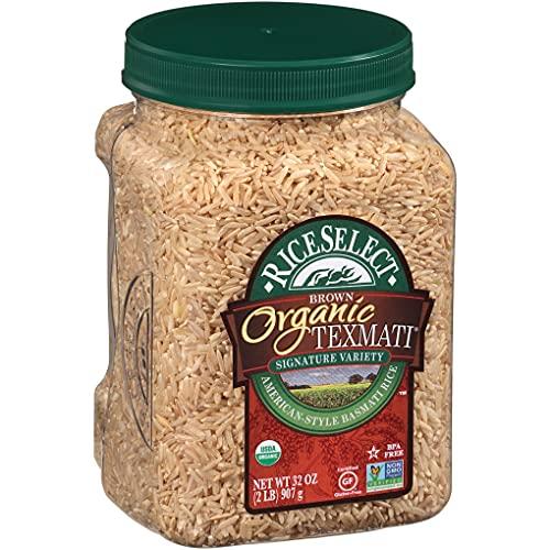 RiceSelect Organic Texmati Brown Rice, Long Grain, Whole Grain, Gluten-Free, Non-GMO, 32 oz (Pack of...