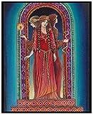 BOIPEEI Diosa psicodélica de mitología pagana, Pintura de Diamante 5D DIY, Bordado de Diamantes de imitación de Mosaico, para Arte de decoración del hogar