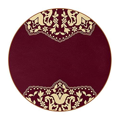 Juego de 6 posavasos de diseño único para posavasos de mesa con parte trasera antideslizante, diseño árabe estilo árabe D4.3 pulgadas