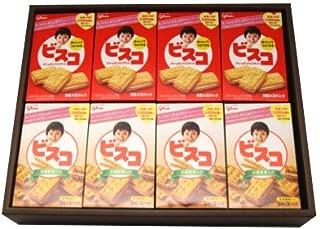 おかしのマーチ グリコ ビスコ クリームサンドビスケット・小麦胚芽入り (5枚×3パック) (2種類・計16個) ギフト セット G