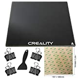Creality Ender 3 Glass Bed 235x235x4mm With Composite Coating for Advanced Adhesion and Tool-less Part Removal Binder Clips PEI Sheet And Spatula for Flawless Application Ender 3 Pro Ender 3V2 Ender 5
