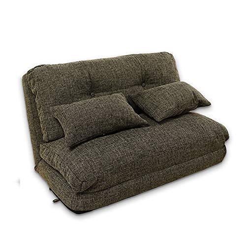 Piso Sofá Cama, Plegable futón calesa sofá Juego Cátedra de pie de sofá, Ajustable Baja del sofá y del sofá por un Dormitorio, Muebles de Sala,Azul