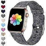 HUMENN Kompatibel mit Apple Watch Armband 38mm 40mm 42mm 44mm, Ersatzgewebe Band Nylon Sport Armband...