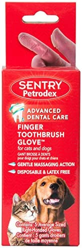 Petrodex Finger Toothbrush for Cats and Dogs, 5 Count