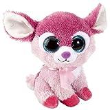 Lashuma Sweet and Sassy - Peluche de ciervo con ojos brillantes (13 cm), color rosa