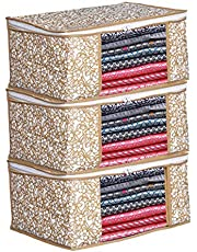 Porchex Presents Non Woven Saree Cover Storage Bags for Clothes with primum Quality Combo Offer Saree Organizer for Wardrobe/Organizers for Clothes/Organizers for Wardrobe