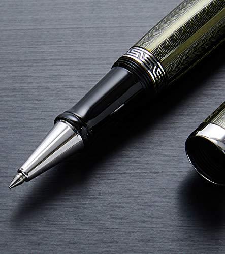 Xezo Maestroダイヤモンドカット、ラッカー塗装、手作りプラチナPlated Fineローラーボールペン、(Maestro LGモルダバイトR)