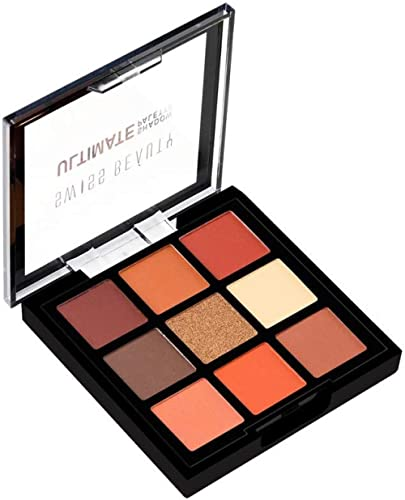 Swiss Beauty Ultimate 9 Color Eyeshadow Palette, Eye MakeUp, Multicolor-04, 9g