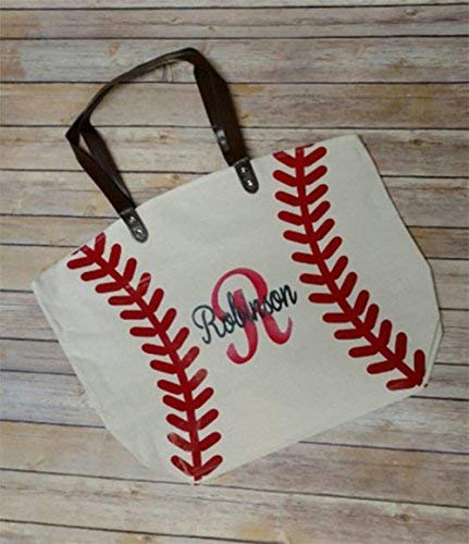 Custom Baseball Mom Blinged Tote Bags Canvas Bags Baseball Mom Tote Bags
