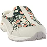 Easy Spirit Womens Traveltime Floral Mule Sneakers Shoes Casual - Off White - Size 7 B
