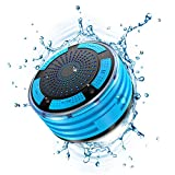 Shower Speaker, IPX7 Waterproof Portable Wireless Bluetooth Speaker with FM Radio, LED Mood Lights, Super Bass HD Sound Shower for Bathroom, Pool, Beach, Outdoor