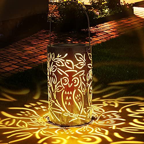 Solarlaterne für Außen, Zorara Solar Laterne Aussen Hängend IP65 Wasserdicht Solarlichter, Metall Solarleuchten Garden Solarlampen Outdoor Dekorative for Garden, Balkon, Yard, Path Ornaments