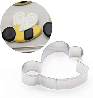 Cookie Cutters Set Stainless Bee Shapes for Kids Family Kitchen Baking Party Holiday Gatherings 4 Packs