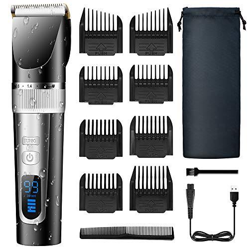 Tagliacapelli per Uomo MOULEI, Taglia capelli a Batteria Taglia Barba per Uomo, Tagliacapelli Ricaricabile & Kit per Toelettatura con Display a LED