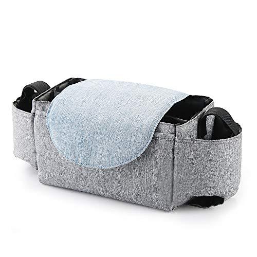 Pannow Baby kinderwagen tassen grote capaciteit mama luiertas multifunctionele reizen luier tas moederschap verpleegkundige opknoping opslag tas 21x12x12cm Grijs