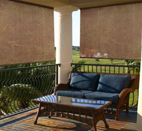 Radiance 2310012 Patio Curtain, Exterior Solar Shade with 80% UV Ray Protection, 5-Foot Wide by 6-Foot Long, Cocoa