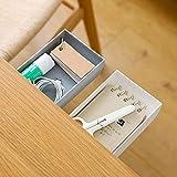 TuTuShop Under Table Drawer, Hidden Self-Adhesive Pencil Tray Drawer,Under Desk Holder Storage Box, Stationery Pencil Storage Drawer Organizer for Office/School/Kitchen (1 Pack Grey)